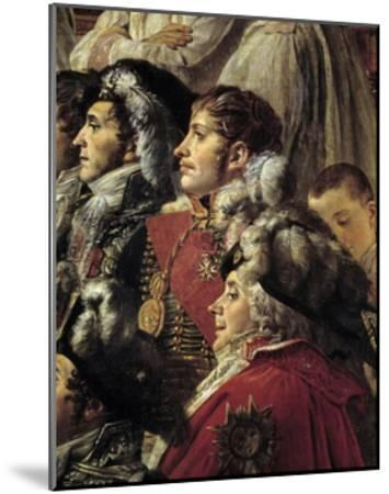 Detail of the Consecration of the Emperor Napoleon I by Jacques Louis David--Mounted Giclee Print