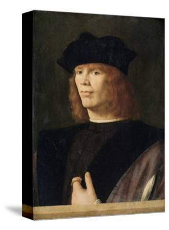 Portrait of a Young Man, Probably Merchant by Andrea Solario--Stretched Canvas Print