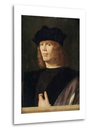 Portrait of a Young Man, Probably Merchant by Andrea Solario--Metal Print