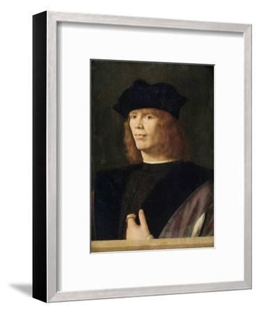 Portrait of a Young Man, Probably Merchant by Andrea Solario--Framed Giclee Print