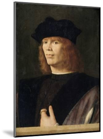 Portrait of a Young Man, Probably Merchant by Andrea Solario--Mounted Giclee Print