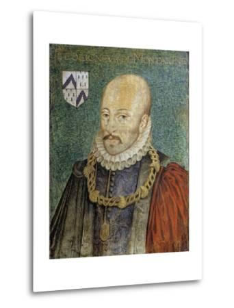 Portrait of Michel De Montaigne--Metal Print