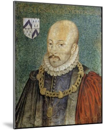Portrait of Michel De Montaigne--Mounted Giclee Print