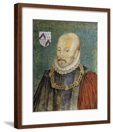 Portrait of Michel De Montaigne--Framed Giclee Print