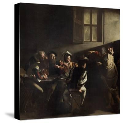 The Calling of St. Matthew by Caravaggio--Stretched Canvas Print