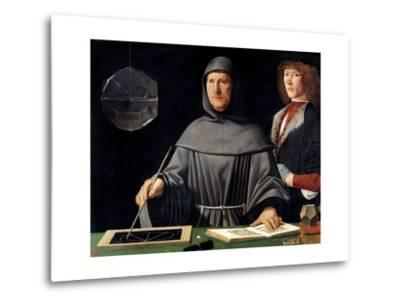 Portrait of Fra Luca Pacioli by Jacopo De Barbari--Metal Print