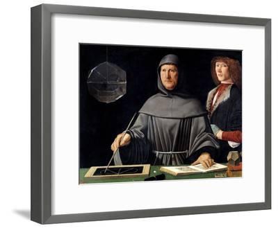 Portrait of Fra Luca Pacioli by Jacopo De Barbari--Framed Giclee Print
