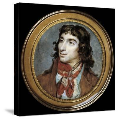 Portrait of Camille Desmoulins by Francois Dumont--Stretched Canvas Print