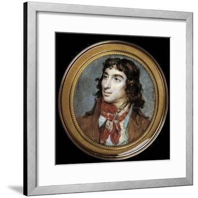 Portrait of Camille Desmoulins by Francois Dumont--Framed Giclee Print