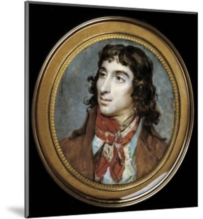 Portrait of Camille Desmoulins by Francois Dumont--Mounted Giclee Print