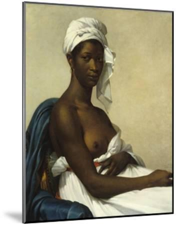 Portrait of a Negress by Marie Guilhelmine Benoist--Mounted Giclee Print