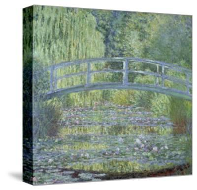 The Waterlily Pond: Green Harmony by Claude Monet--Stretched Canvas Print