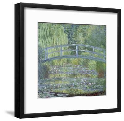 The Waterlily Pond: Green Harmony by Claude Monet--Framed Giclee Print