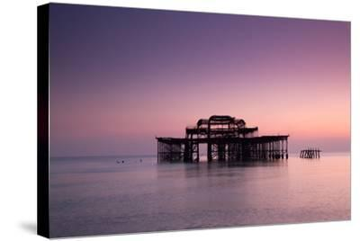 Ruins of West Pier.-Lucie Averill-Stretched Canvas Print