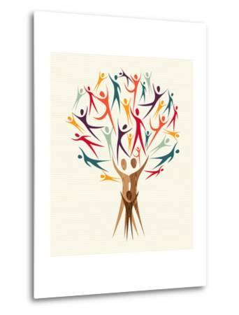 Diversity People Tree-cienpies-Metal Print