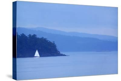 Sailboat on Ocean.-Grant Faint-Stretched Canvas Print