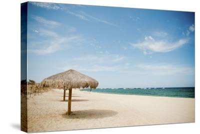 Beach Umbrella-Christopher Kimmel-Stretched Canvas Print