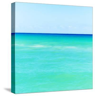 Mexico, Yucatan, Seascape with Blue Sky-Tetra Images-Stretched Canvas Print
