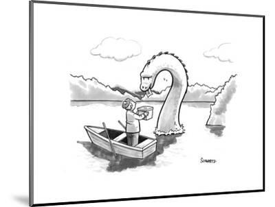 The Loch Ness monster votes for Scotland Independance. - New Yorker Cartoon-Benjamin Schwartz-Mounted Premium Giclee Print