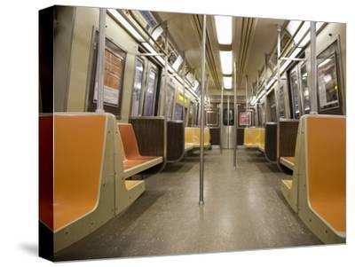 Inside a Subway Train, NYC-Pascal Preti-Stretched Canvas Print