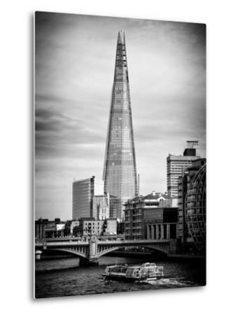 The Shard Building and The River Thames - London - UK - England - United Kingdom - Europe-Philippe Hugonnard-Metal Print