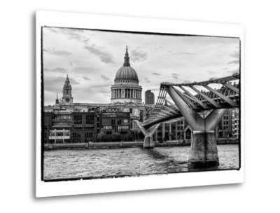 Millennium Bridge and St. Paul's Cathedral - City of London - UK - England - United Kingdom-Philippe Hugonnard-Metal Print
