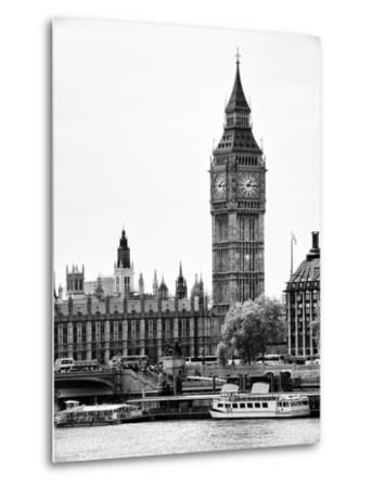 The Houses of Parliament and Big Ben - Hungerford Bridge and River Thames - City of London - UK-Philippe Hugonnard-Metal Print