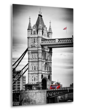 Tower Bridge with Red Bus in London - City of London - UK - England - United Kingdom - Europe-Philippe Hugonnard-Metal Print