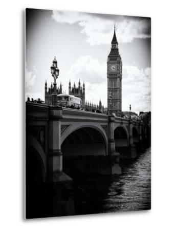 View of Big Ben from across the Westminster Bridge - Thames River - City of London - UK - England-Philippe Hugonnard-Metal Print