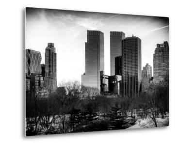 View of Skyscrapers from Central Park in Winter - Manhattan - New York City - United States - USA-Philippe Hugonnard-Metal Print