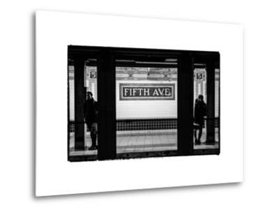 Moment of Life in NYC Subway Station to the Fifth Avenue - Manhattan - New York City-Philippe Hugonnard-Metal Print