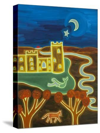 Bodiam Castle by Moonlight, 2014-Cristina Rodriguez-Stretched Canvas Print