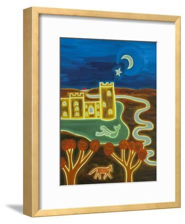 Bodiam Castle by Moonlight, 2014-Cristina Rodriguez-Framed Giclee Print