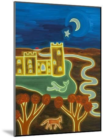 Bodiam Castle by Moonlight, 2014-Cristina Rodriguez-Mounted Giclee Print