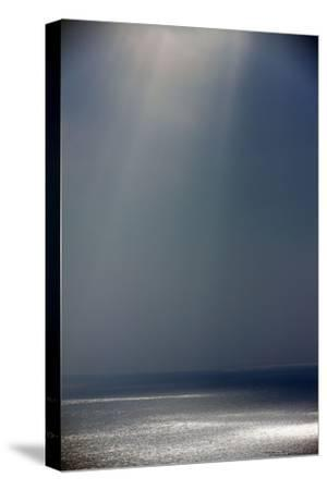 Light and Shade on the Atlantic Ocean in Winter--Stretched Canvas Print