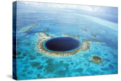Belize Aerial of Belize Blue Hole--Stretched Canvas Print