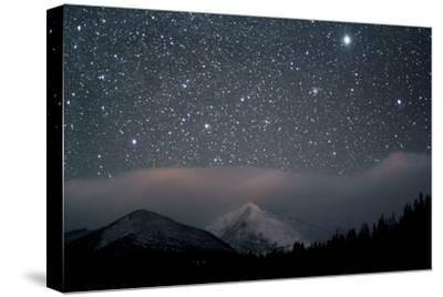 Stars over Rocky Mountain National Park-Pat Gaines-Stretched Canvas Print