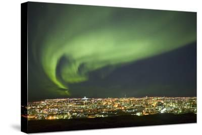 Aurora Borealis over Reykjavik-Arctic-Images-Stretched Canvas Print