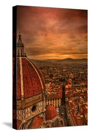 Florence Duomo at Sunset-McDonald P. Mirabile-Stretched Canvas Print