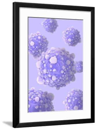 Microscipic View of Pancreatic Cancer Cells--Framed Art Print