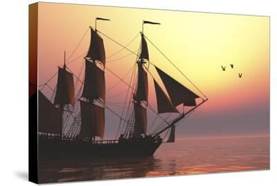 The Medusa Was a 40-Gun Frigate of the French Navy--Stretched Canvas Print