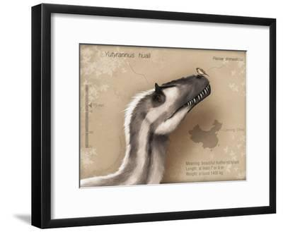 Yutyrannus Huali Is a Feathered Tyrannosauroid from the Early Cretacous of China--Framed Art Print