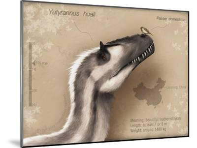 Yutyrannus Huali Is a Feathered Tyrannosauroid from the Early Cretacous of China--Mounted Art Print