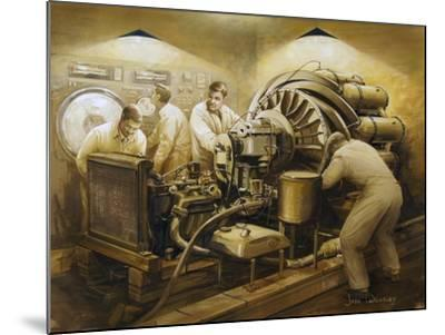 Frank Whittle's Early Development of the Jet Engine--Mounted Art Print