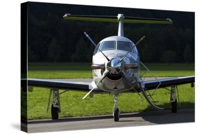 A Pilatus Pc-12 Private Jet--Stretched Canvas Print