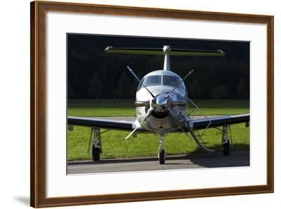 A Pilatus Pc-12 Private Jet--Framed Photographic Print