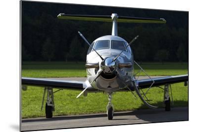 A Pilatus Pc-12 Private Jet--Mounted Photographic Print
