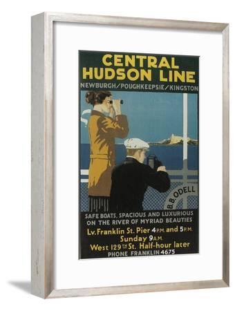 Travel Poster, Central Hudson Line-Found Image Press-Framed Giclee Print