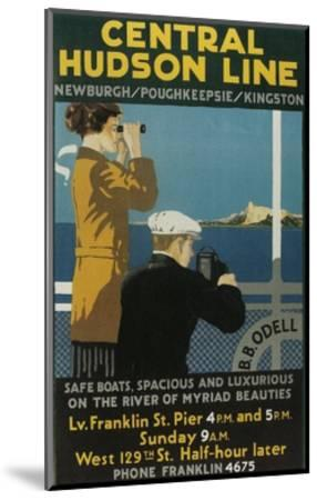 Travel Poster, Central Hudson Line-Found Image Press-Mounted Giclee Print