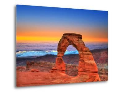 Arches National Park Delicate Arch Sea of Clouds in Moab Utah USA Photo Mount-holbox-Metal Print